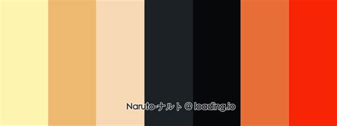 Naruto / ナルト » Beautiful Color Palettes for Your Next