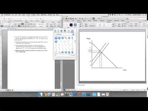 How to draw graphs for economics course (Using PowerPoint