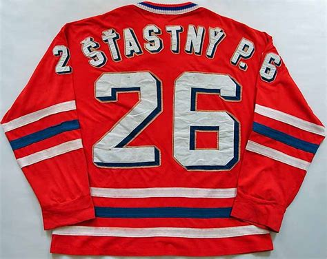 1976 Peter Stastny Canada Cup Team Czech Game Worn Jersey