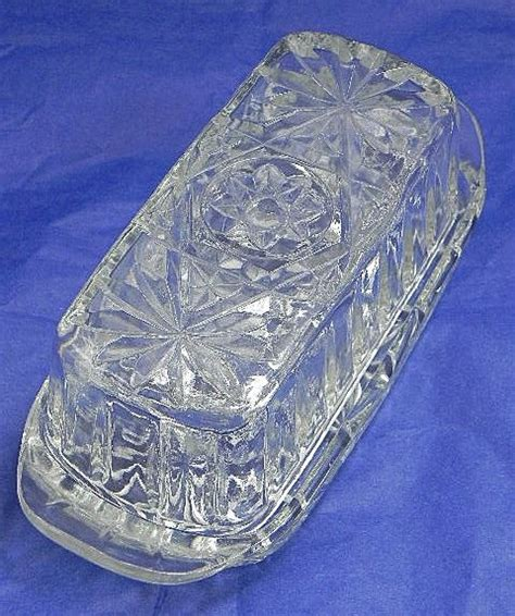 Anchor Hocking Prescut Butter Dish with Star Pattern