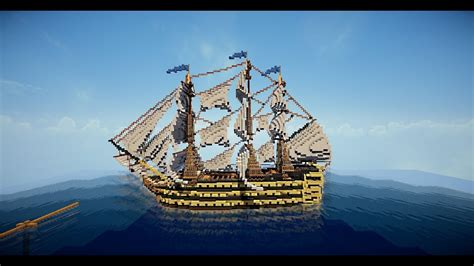 Minecraft Ship - HMS Victory + download - YouTube