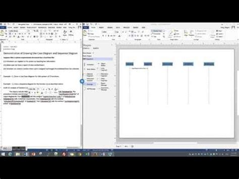 Draw a simple Sequence diagram in Visio 2013 - YouTube