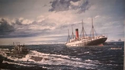 The sinking of Cunard's RMS Carpathia by U-55 off the