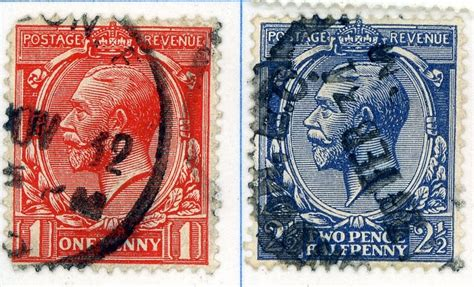 How much are my stamps worth ?: George V - Red (One Penny