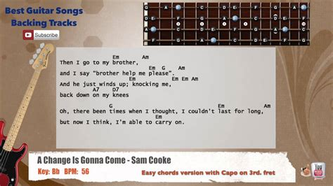 A Change Is Gonna Come - Sam Cooke Bass Backing Track with