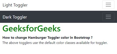 How to change Hamburger Toggler color in Bootstrap