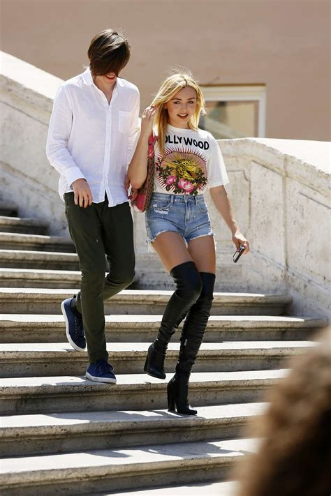 Peyton R List in Piazza Di Spagna on vacation in Rome -15