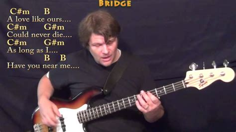And I Love Her (Beatles) Bass Guitar Cover Lesson with