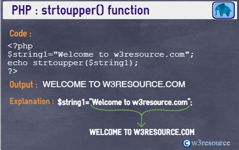 PHP strtoupper() function - w3resource